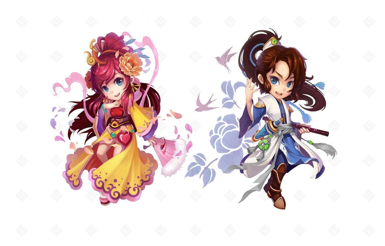Photo wallpaper girl, the game, anime, art, guy, characters, children's
