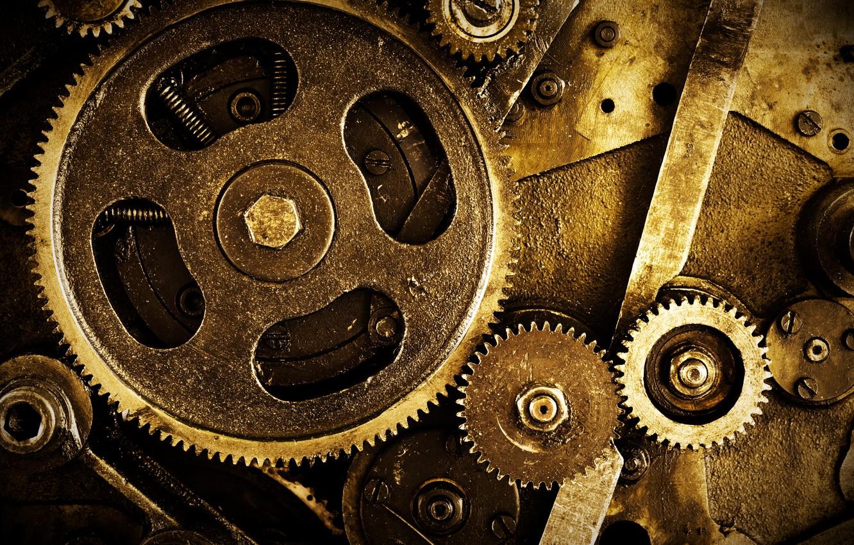 Photo wallpaper mechanism, gear, nuts