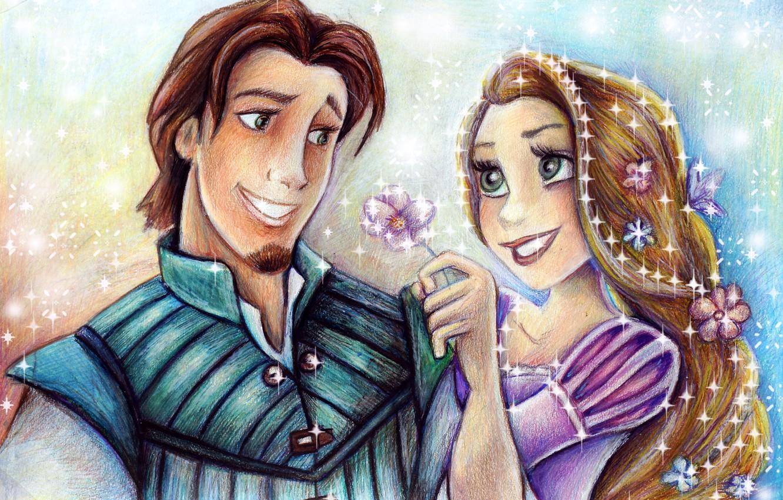 Wallpaper Girl Art Guy Disney Rapunzel Flynn Rider Flynn Images For Desktop Section Filmy Download
