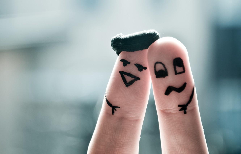 Photo wallpaper mood, fingers, faces