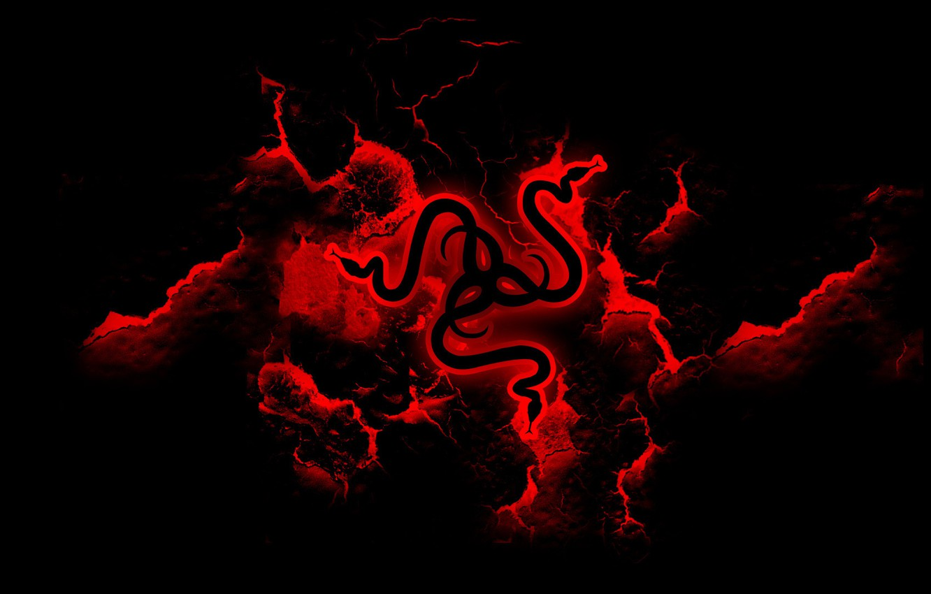 Photo wallpaper Red, Logo, Razer, Desktop Wallpaper