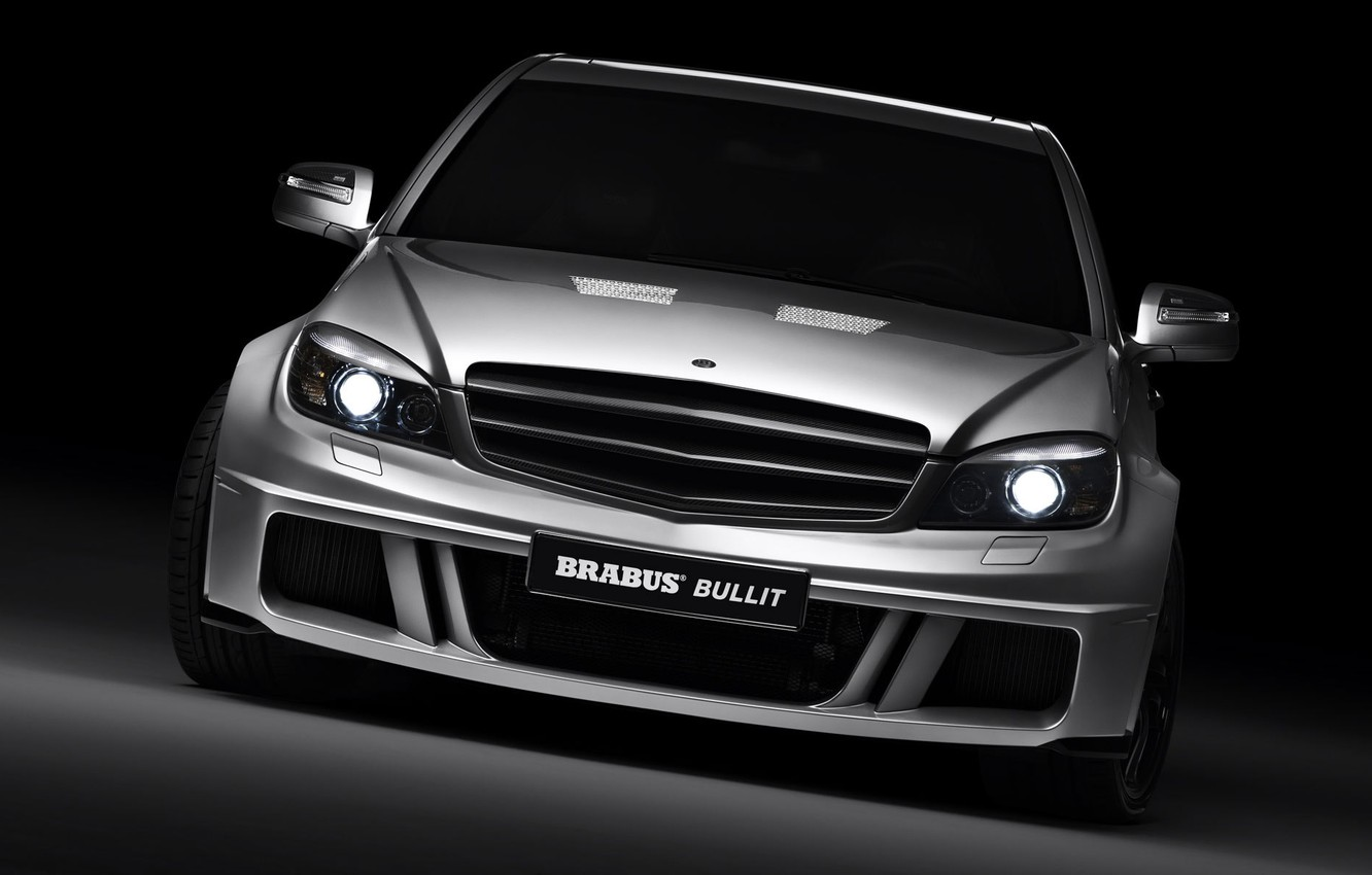 Photo wallpaper lights, mercedes, Mercedes, brabus, BRABUS, auto walls free pictures, cars with cars