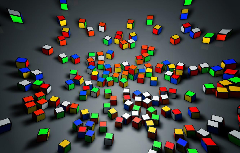 Wallpaper Rendering Cinema Cinema 4d Cube Rubik S Cube