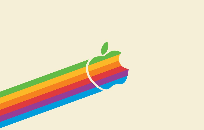 Photo wallpaper color, apple, minimalism