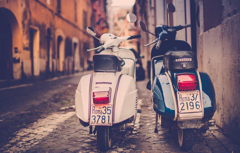 Photo wallpaper moped, Rome, scooter, photo, photographer, retro, Rome, Jamie Frith, Piaggio