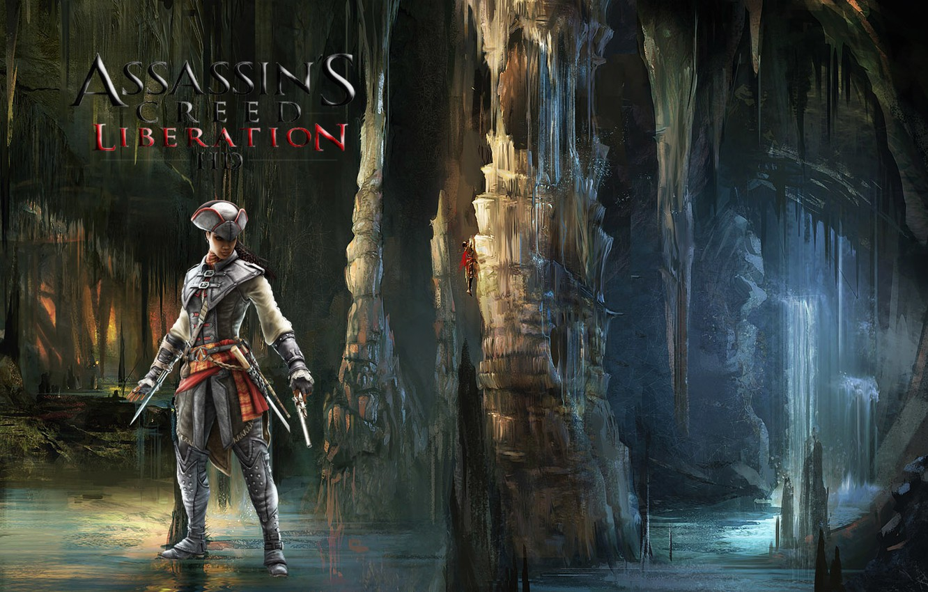 Wallpaper Water Cave Ubisoft Assassin Avelina De Granpre