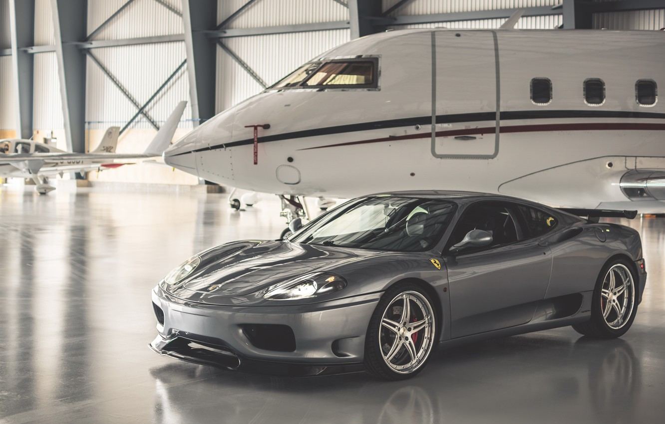 Photo wallpaper Ferrari, 360, Airplane, Modena