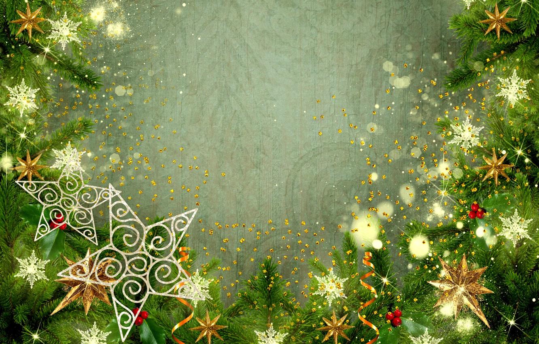 Photo wallpaper Christmas, New year, stars