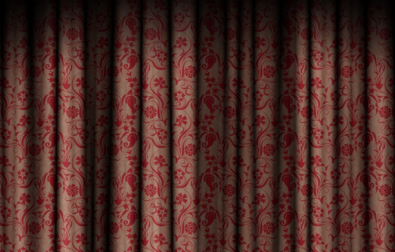 Photo wallpaper flowers, patterns, texture, texture, curtain, the curtain
