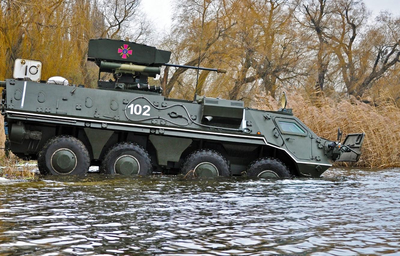 Photo wallpaper Ukraine, swimming, BTR 4, combat module