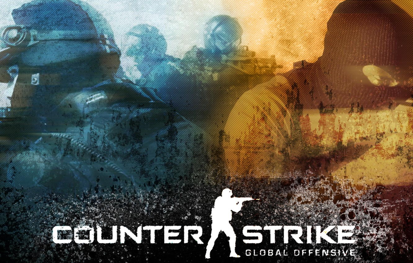 Photo wallpaper War, Soldiers, The inscription, Weapons, Logo, Men, Counter Strike, Name, Shooter, Machines
