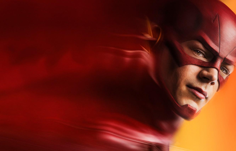 Photo wallpaper face, mask, superhero, the flash, barry allen