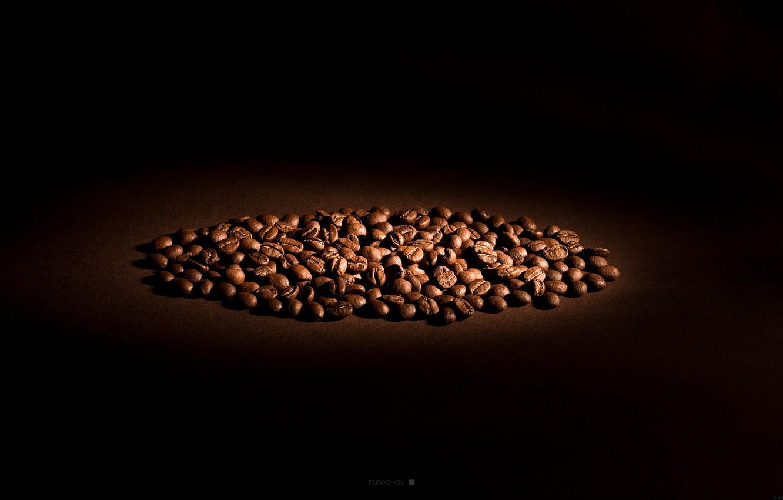 Photo wallpaper light, coffee, grain