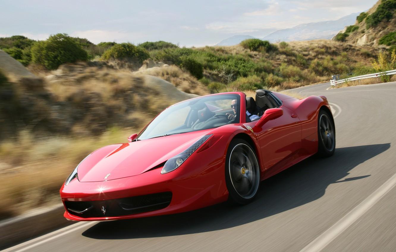 Photo wallpaper red, Machine, Ferrari, Car, Car, F458