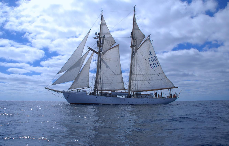 "Photo wallpaper sea, ship, sailing, ""Kite"""