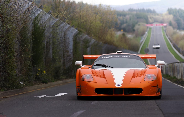 Photo wallpaper Maserati, supercar, Gran Turismo, MC12, Nurburgring