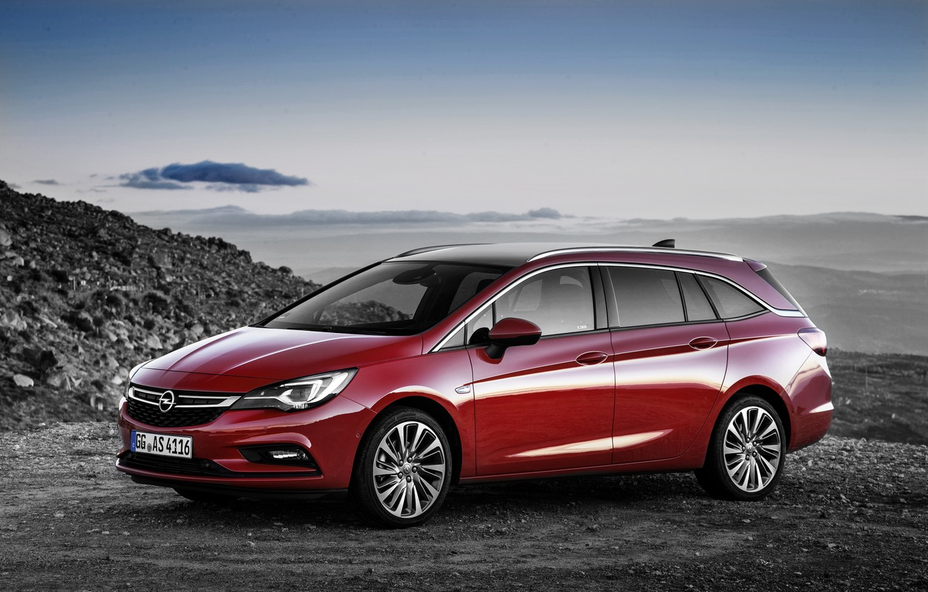 Photo wallpaper red, Opel, Astra, Opel, universal, Astra, Tourer