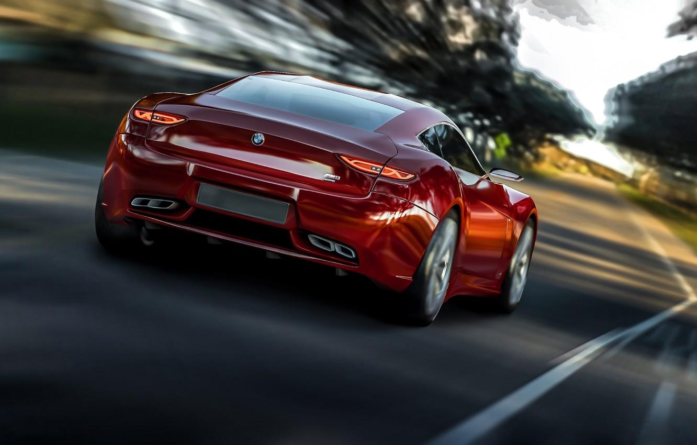 Photo wallpaper road, movement, speed, BMW, 2013, Radion Concept