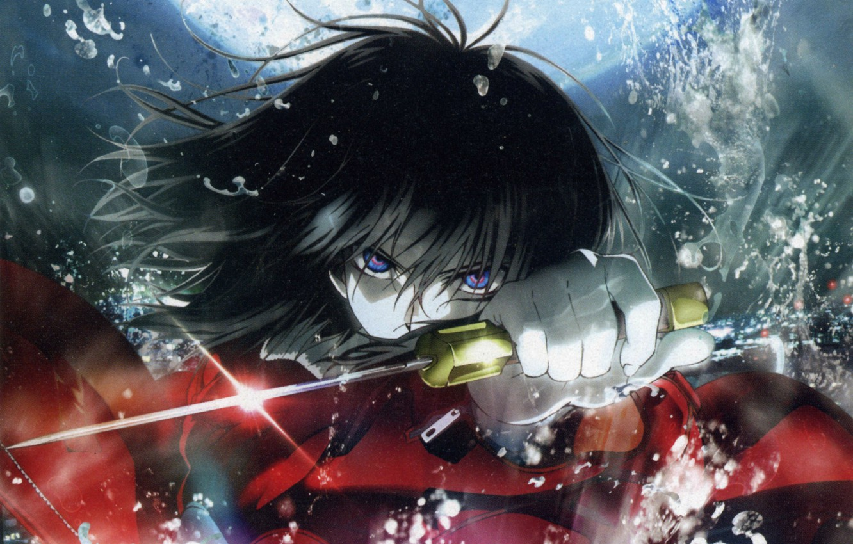 Photo wallpaper dagger, hatred, determination, Kara no Kyoukai, the garden of sinners, evil eye, Shiki Ryougi, the …