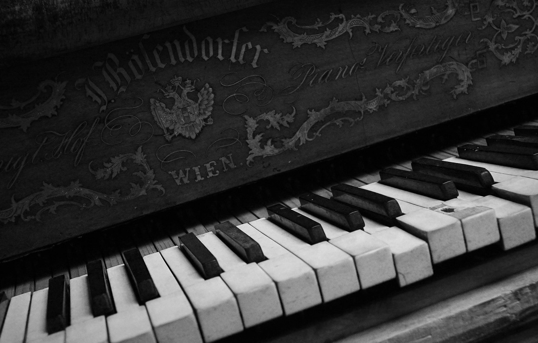 Photo wallpaper music, keys, piano