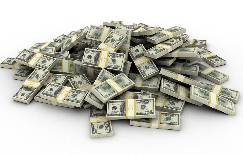 Photo wallpaper money, a bunch, the bucks, Dollars