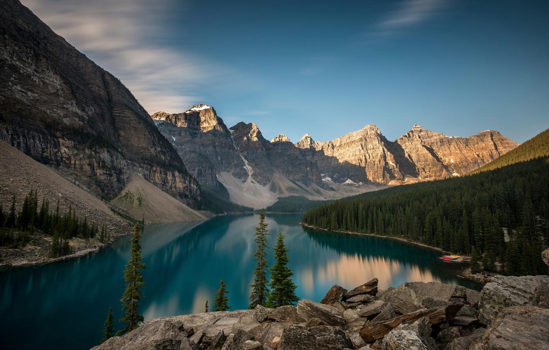 Wallpaper Canada Alberta Moraine Lake Images For Desktop