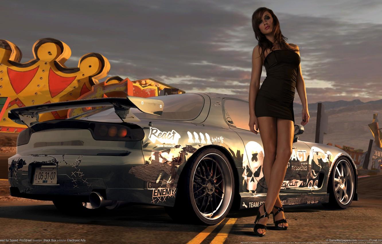 Photo wallpaper girl, prostreet, need for speed