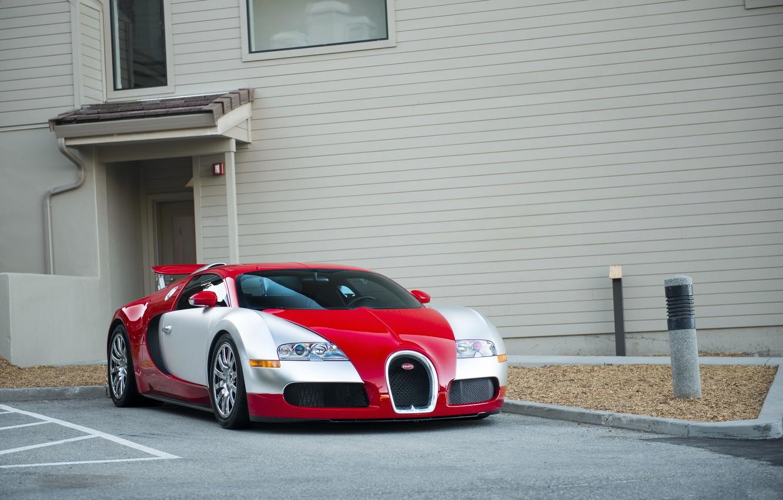 Photo wallpaper Bugatti, veyron, red, white
