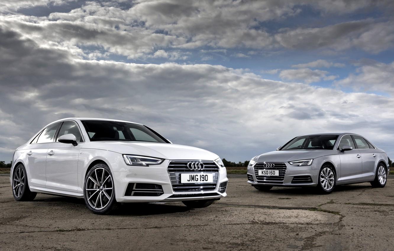 Photo wallpaper the sky, clouds, Audi, Audi, sedan, 2015