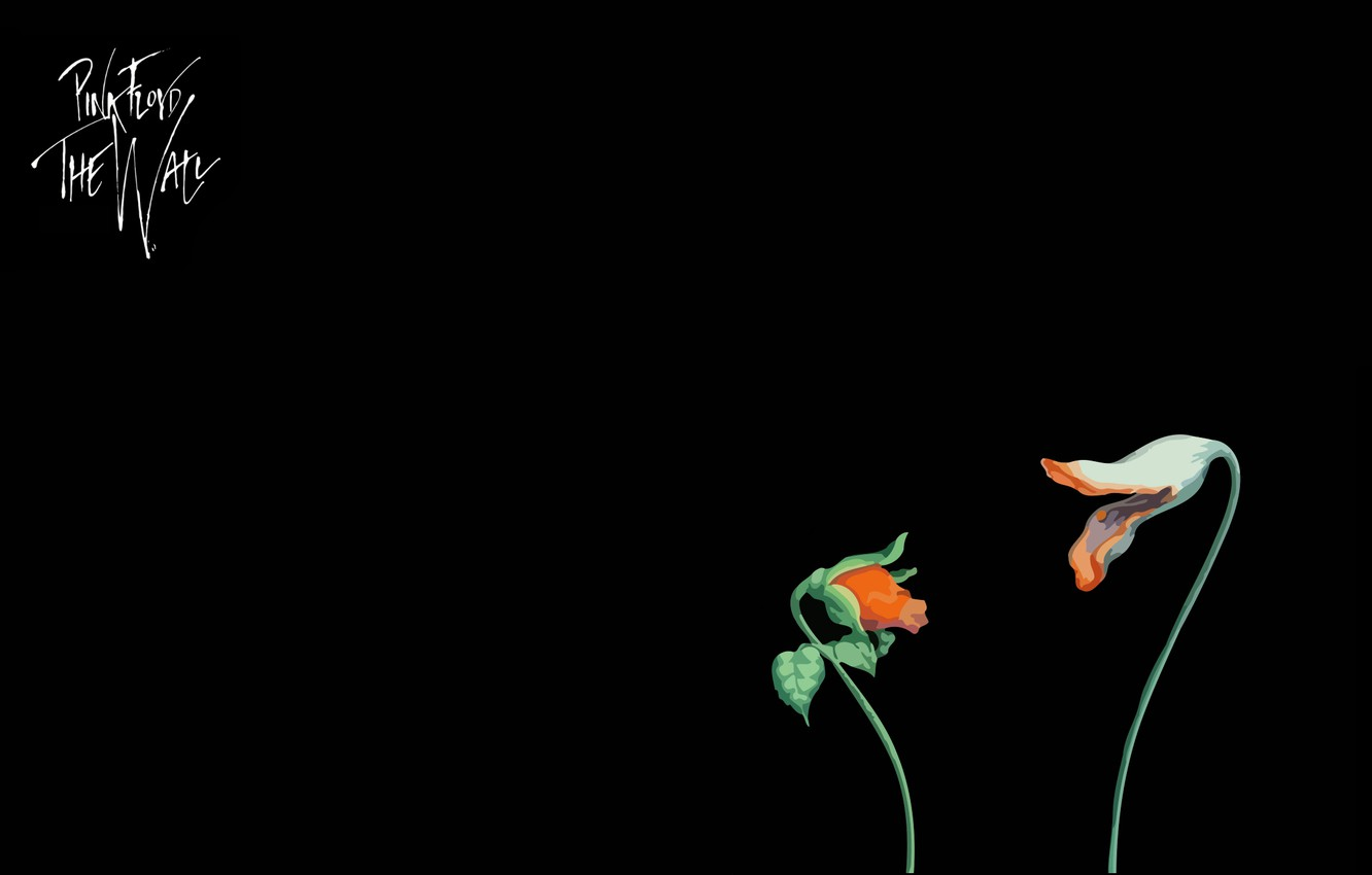 Wallpaper Music Minimalism Pink Floyd Movie The Wall Elclon The Flowers Empty Spaces Images For Desktop Section Minimalizm Download