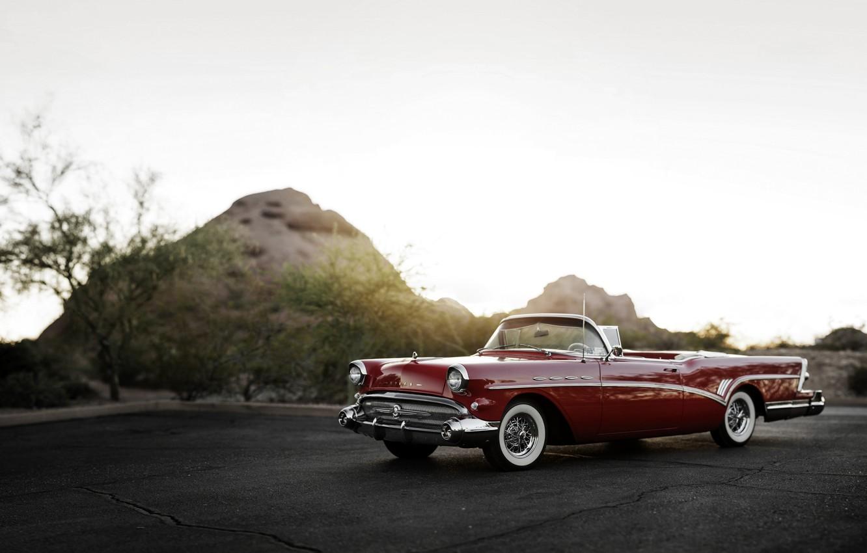 Photo wallpaper convertible, 1957, Convertible, Buick, Buick