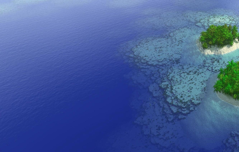 Photo wallpaper sea, Islands, palm trees