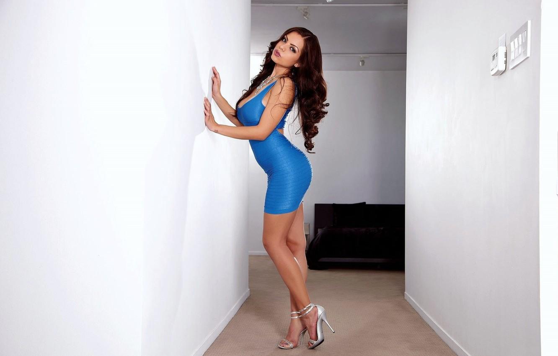 Photo wallpaper pose, wall, dress