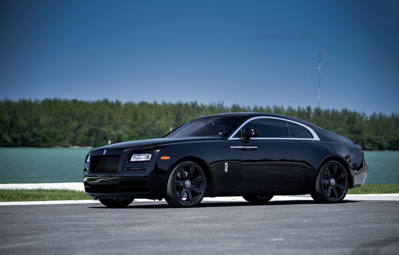 Photo wallpaper Rolls-Royce, Black, Wheels, Wraith, Oem