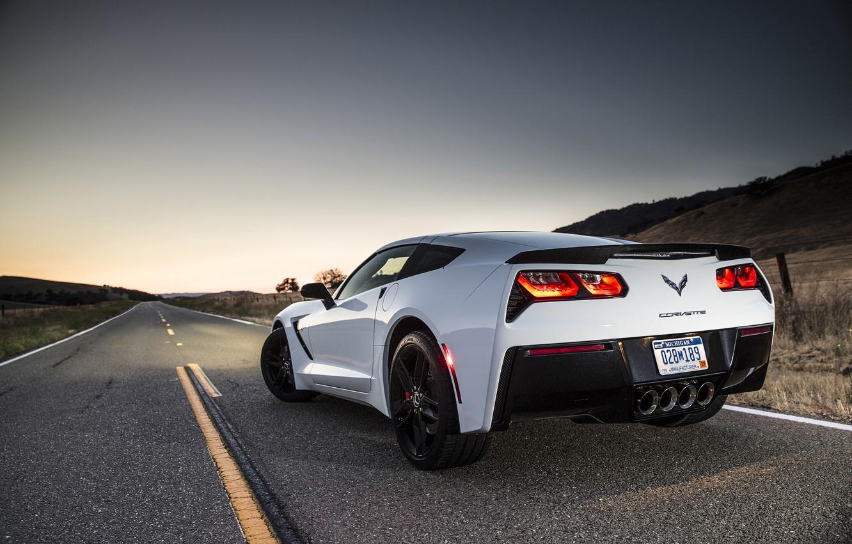 Photo wallpaper Corvette, Chevrolet, Stingray, 2014