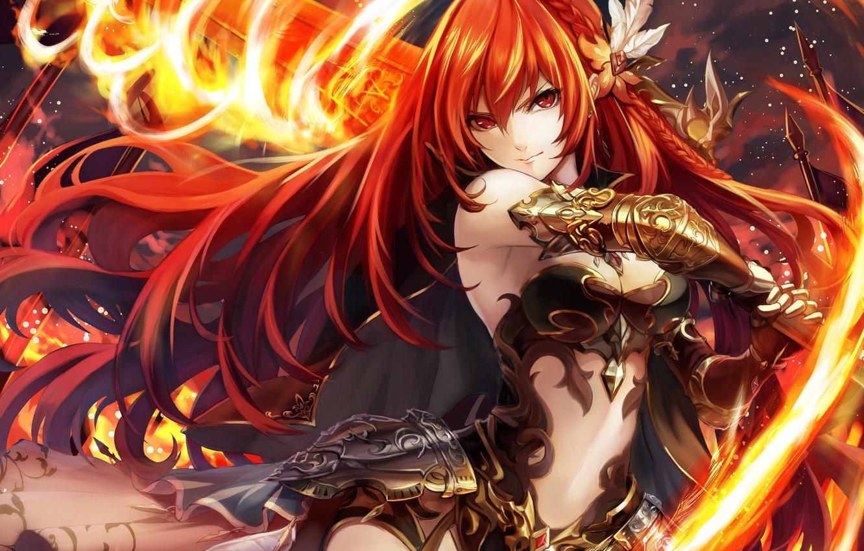 Anime Girl On Fire Wallpaper - Anime Wallpaper HD