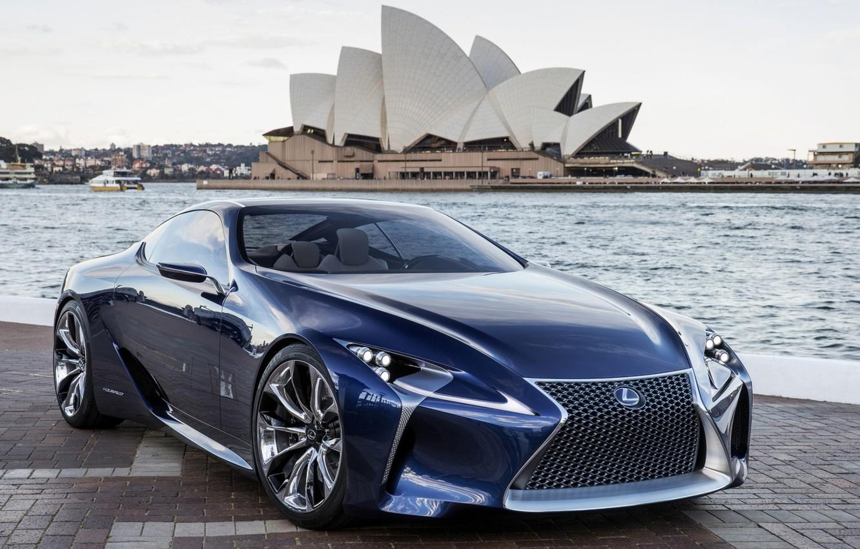 Photo wallpaper Concept, the sky, blue, Lexus, Lexus, the concept, Blue, the front, Sydney Opera House, Sydney …