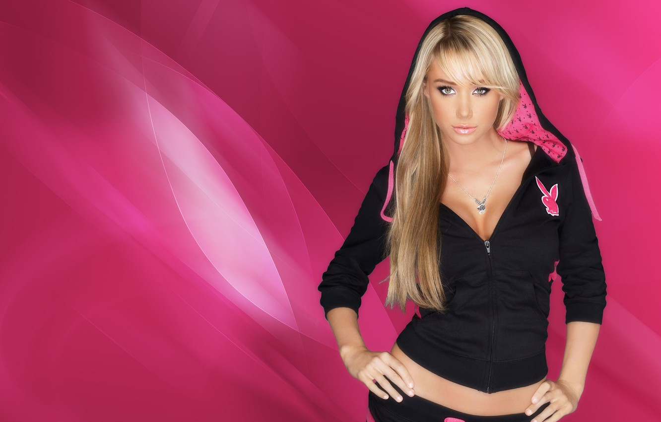 Wallpaper Pink Playboy Sexy Sara Jean Underwood Images For