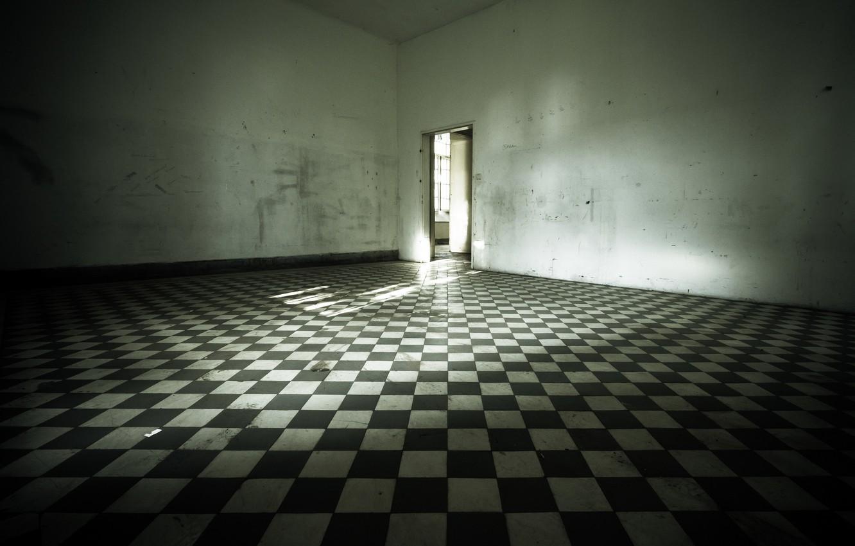 Photo wallpaper room, the door, floor