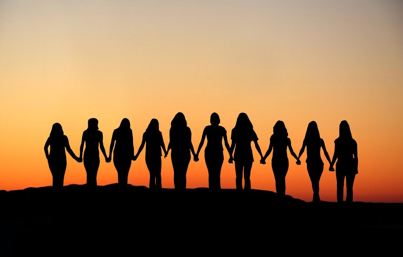 Photo wallpaper sunset, united, women rights