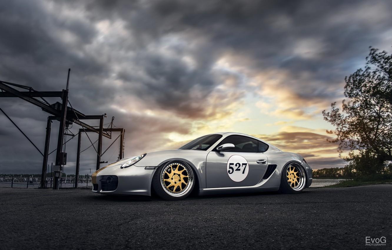 Photo wallpaper car, tuning, Porsche Cayman, evog
