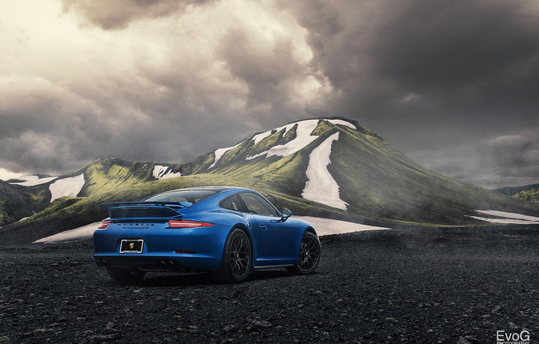 Photo wallpaper car, 911, porsche, blue, gts, evoG photography