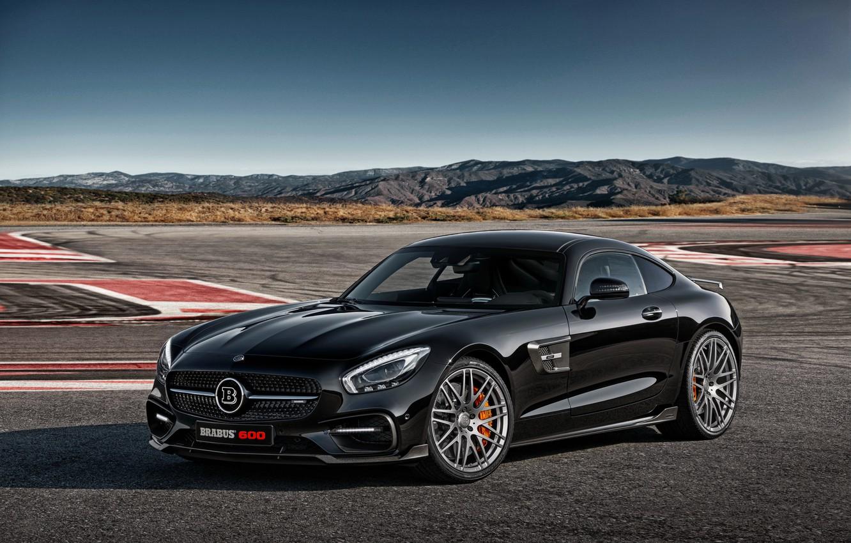 Photo wallpaper black, Mercedes-Benz, Mercedes, AMG, Black, BRABUS, AMG, 2015, GT S, C190, Braus