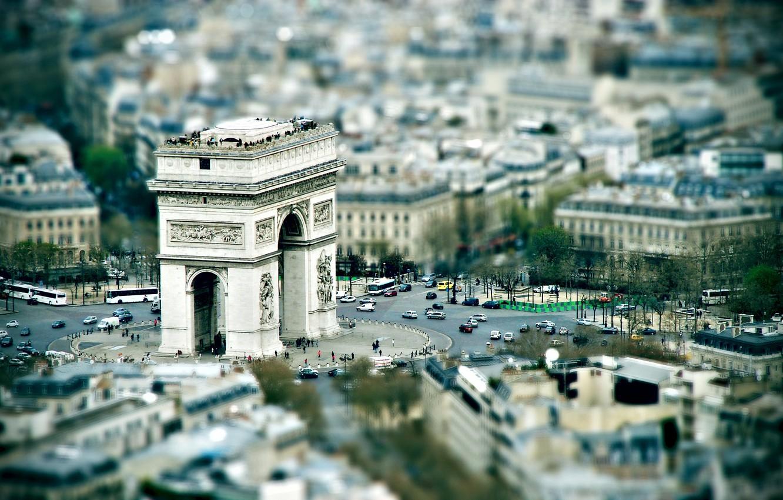 Photo wallpaper Paris, area, overview, arch