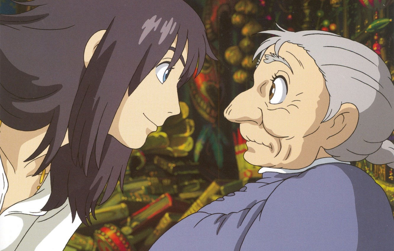 wallpaper surprise profile two old art howl s moving castle