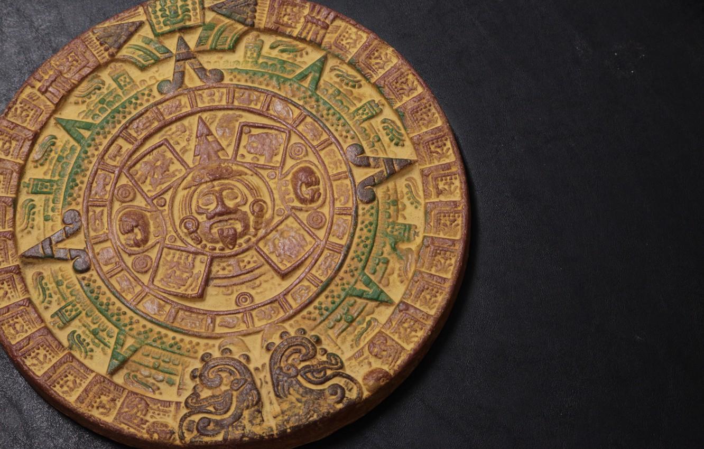Photo wallpaper background, pattern, round, the Aztecs, calendar, Aztec Calendar, Shem