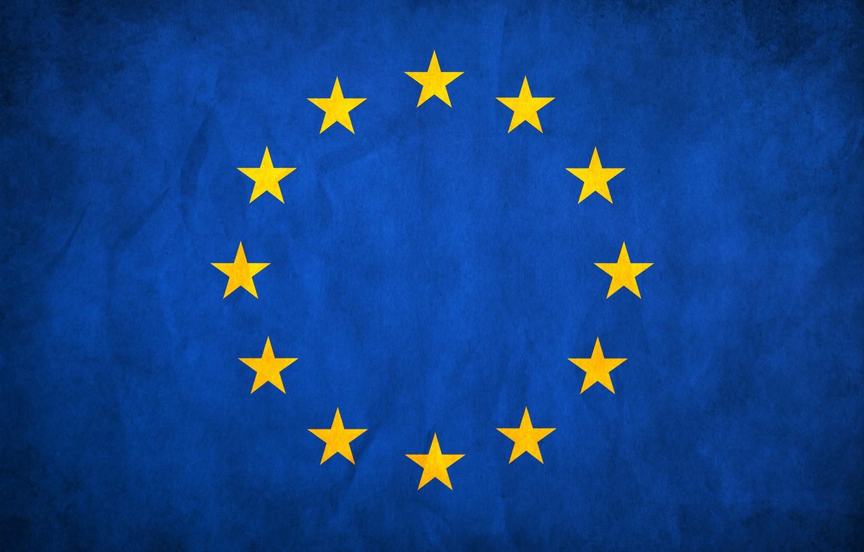 Photo wallpaper stars, blue, flag, Europe, The European Union