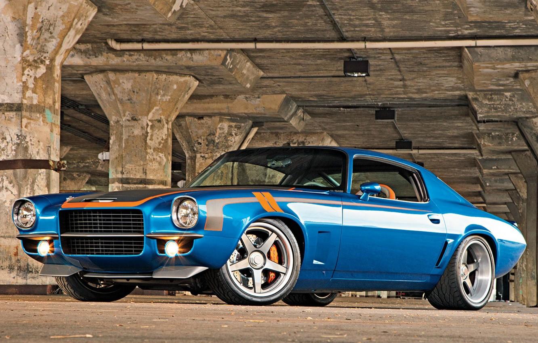 Photo wallpaper 1971, Chevrolet, camaro, chevrolet, tuning, custom, Camaro
