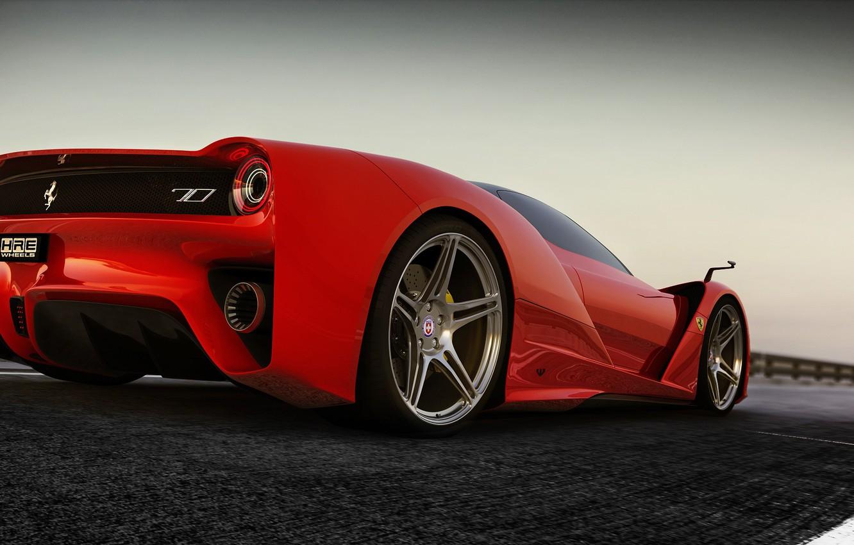 Photo wallpaper concept, ferrari, Ferrari, render