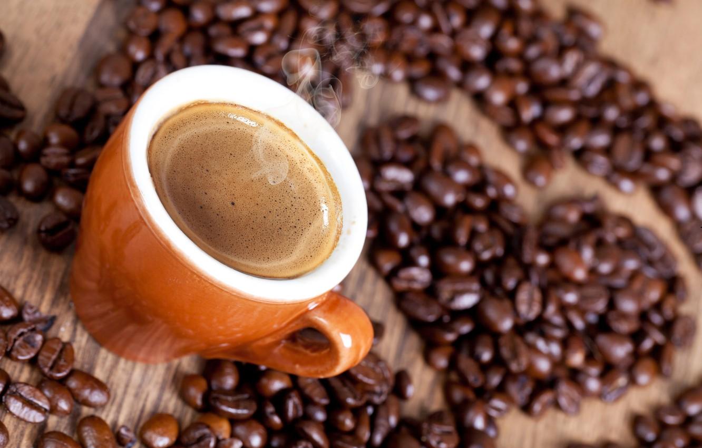 Photo wallpaper foam, heart, coffee, grain, couples, Cup, drink
